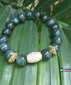 Lắc tay ngọc cẩm thạch Jade