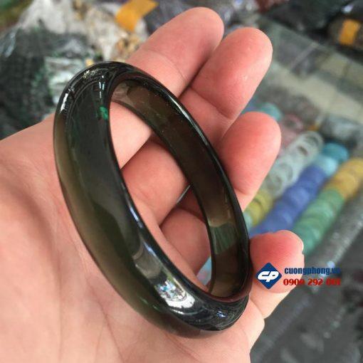 Vòng tay Pha lê màu xanh rêu AV59