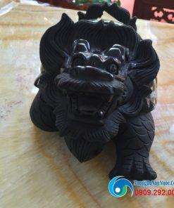 Tượng Long Quy đá Obsidian