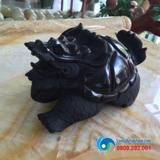 Tượng Long Quy đá Obsidian B210
