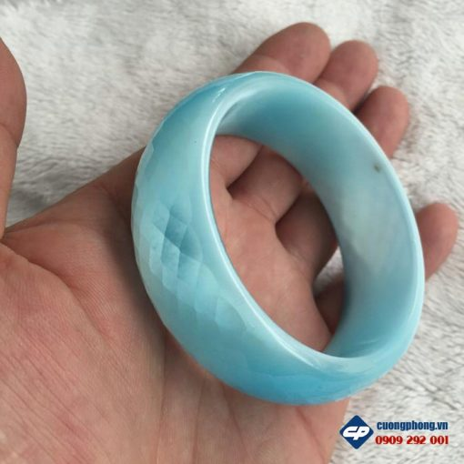 Vòng tay đá mắt mèo xanh dương A1149