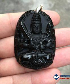 Hư không tạng bồ tát đá obsidian A1230