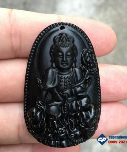 Mặt phổ hiền bồ tát đá obsidian