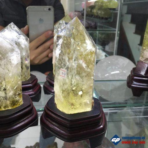 Trụ đá Thạch anh vàng B501