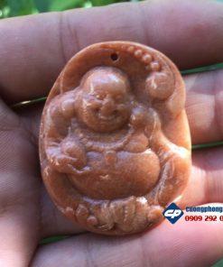 Mặt dây chuyền Phật di lặc đá vân gỗ