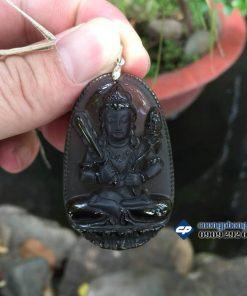 Mặt Phật bản mệnh Hư không Tạng đá ám khói