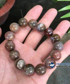 Vòng lắc hạt đeo tay Gỗ Hóa Thạch