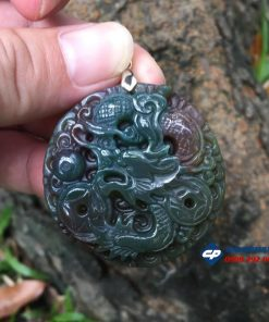 Mặt dây chuyền hình Rồng đá caxedon