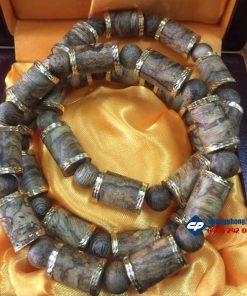 Lắc tay, vòng hạt Trầm Hương bọc vàng 18k