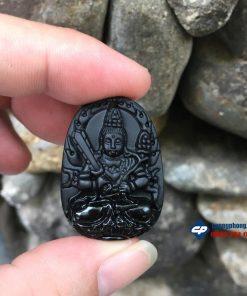 phật bản mệnh Hư Không Tạng đá obsidian