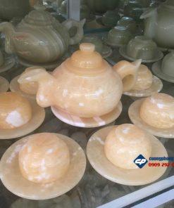 Bộ ấm tách trà bằng đá Hoàng Long D0341