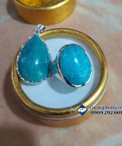 Nhẫn đá Amazonite
