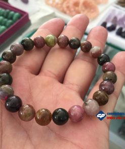 Lắc tay, chuỗi hạt đá Tourmaline size 8li L136