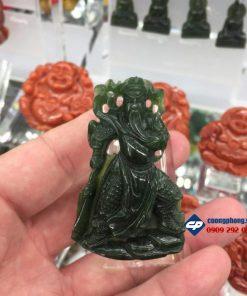 Mặt dây chuyền Quan Công đá Ngọc Bích Nephrite CP001