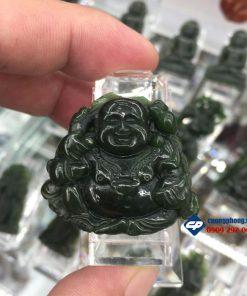 Mặt dây chuyền Phật Di Lặc đá Ngọc Bích Nephrite