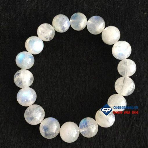 Lắc tay, vòng hạt đá Mặt Trăng Moonstone hạt 10li L187