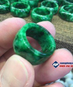 Nhẫn đá Ngọc Cẩm Thạch Chuẩn hàng kiểm định CP112