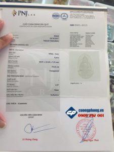 Mặt phật bản mệnh Thiên Thủ Thiên Nhãn đá Chalcedony PM15 phong thủy