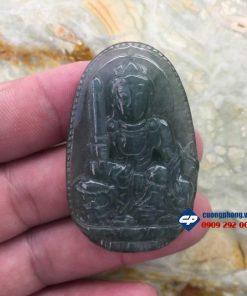 Mặt phật Văn Thù Sự Lợi đá cẩm thạch PM23
