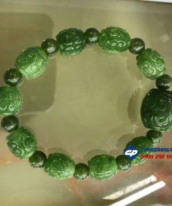 Vòng tay chuỗi hạt Lu thống đá Ngọc Bích Nephrite