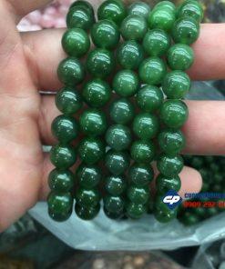 Vòng tay chuỗi hạt đá Ngọc Bích Nephrite