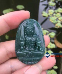 Mặt phật Bất Động Minh Vương đá xanh caxedon