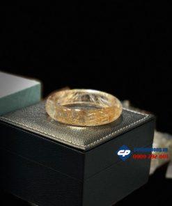 Vòng tay Thạch Anh Tóc Vàng bản liên