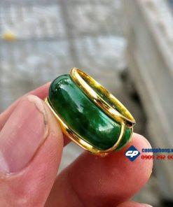 Nhẫn Ngọc Bọc Vàng 18k