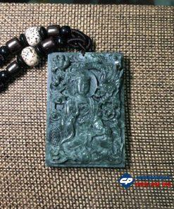 Mặt Phật A Di Đà và Rồng đá xanh Ấn Độ-R128