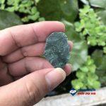 Mặt dây chuyền đức chúa giesu mũ đinh đá xanh ấn độ-R120