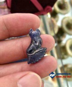 Mặt Hồ Ly 9 đuôi sapphire tự nhiên-R187