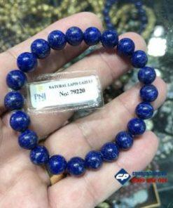 Vòng chuỗi hạt đá Lapis Lazuli 8li đã kiểm định-R180