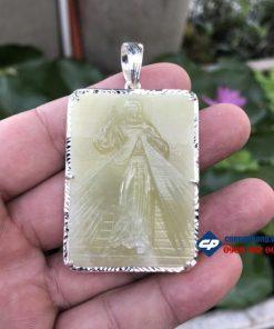 Lòng chúa thương xót đá pakistan bọc bạc T101