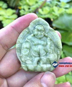 Mặt Phật Di lặc đá xanh rêu T1104