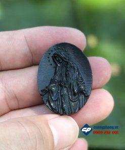 Đức mẹ ban ơn đá obsidian size nhỏ-r246