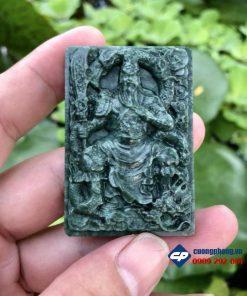 Mặt quan công đá xanh ấn độ_R236