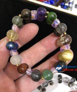 Vòng hạt đeo tay 12 loại đá quý Phong thuỷ