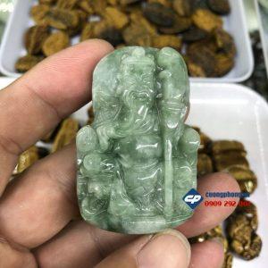 Mặt dây chuyền Quan Công đá Cẩm Thạch G119