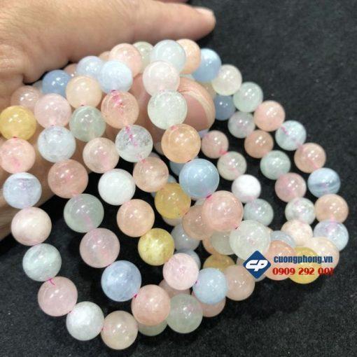 Vòng tay chuỗi hạt đá Beryl 8 ly G110