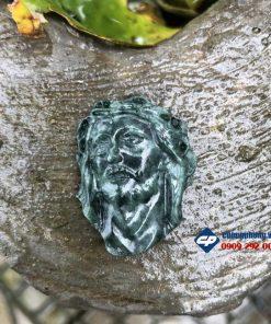 Mặt Đức Chúa Giesu mũ đinh đá Xanh Ấn Độ CP326