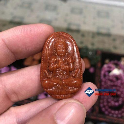 Mặt Phật bản mệnh Như Lai Đại Nhật ngọc Cẩm Thạch Huyết CP339