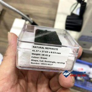 Mặt Quan Công đứng Rồng Ngọc Bích Nephrite VIP M3040 phong thủy