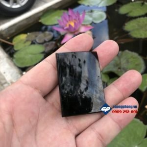 Mặt dây chuyền Gia Đình Thánh Gia Đá Đen Obsidian M352 phong thủy