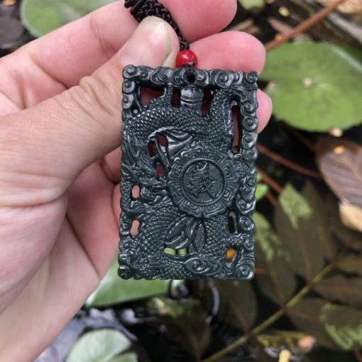 Mặt Quan Công Rồng Ngọc Bích Nephrite CP469