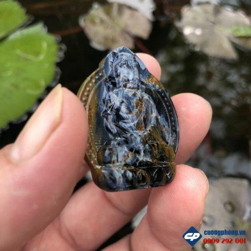 Mặt dây chuyền Phật A Di Đà đá Giông Bão Pietersite CP481