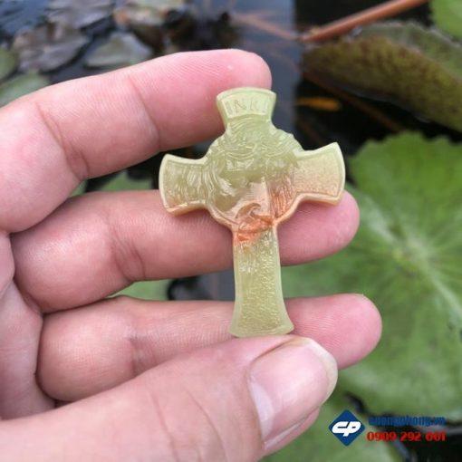 Mặt Thánh Giá Chúa Giesu Mão Gai đá Onyx Pakistan CP502