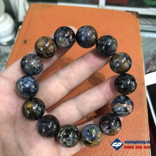 Vòng chuỗi hạt đá Giông Bão Pietersite hạt 16li CP506