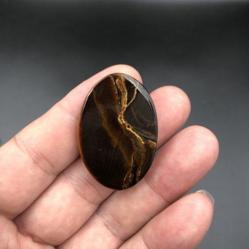 Mặt dây chuyền Thánh cả Giuse đá Mắt Hổ CP357