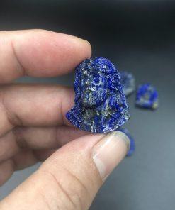 Mật dây chuyển Chúa Giesu mão gai đá Lapis Lazuli CP365
