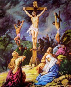 bức tranh chúa giesu bị đóng đinh trên thập giá